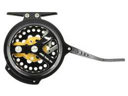 Semiautomatic fly reels