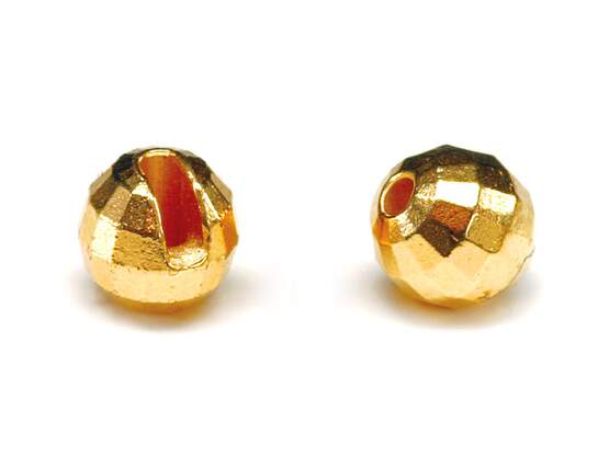 Tungsten beads faced- GOLD - 10 pc.