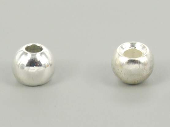 Brass beads - SILVER - 25 pc.