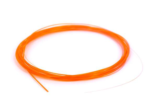 Knotless tapered leader FLUO ORANGE - 15 ft