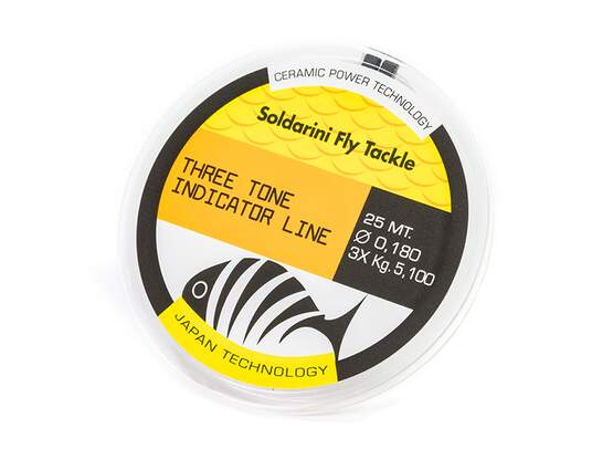 Nylon sft THREE TONE INDICATOR LINE - yellow white orange...