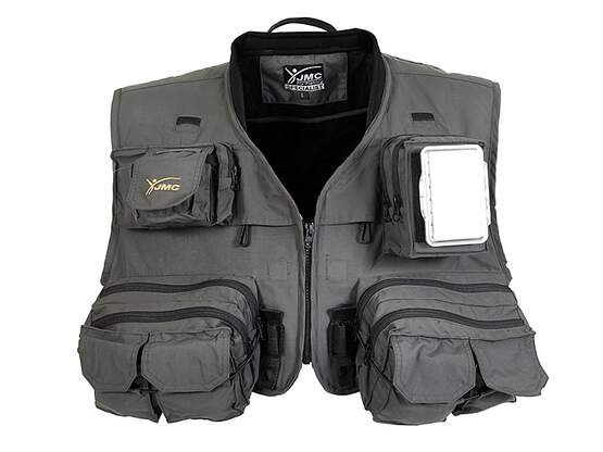 Fly fishing vest jmc SPECIALIST V4 grey