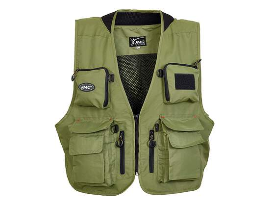 Classic fishing vest jmc TRADITION V2 olive