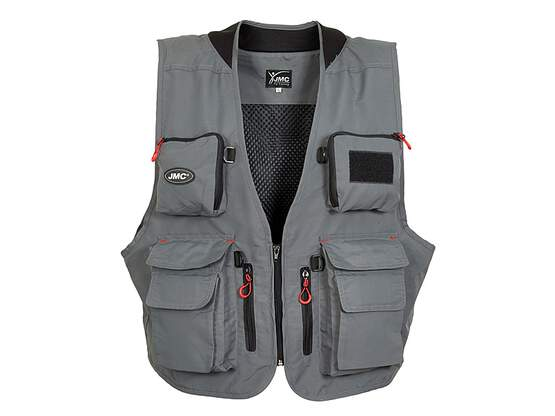 Classic fishing vest jmc TRADITION V2 grey