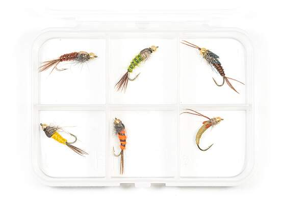 Selection BRASS BEAD HEAD NYMPHS CLASSIC V3 - 6 flies...