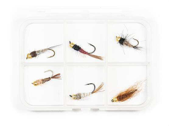 Selection BRASS BEAD HEAD NYMPHS CLASSIC V6 - 6 flies...
