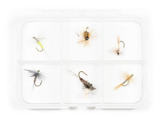 Dry fly selection MIX CLASSIC V3 - 6 flies with box