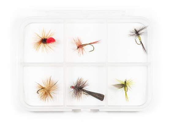 Dry fly selection MIX CLASSIC V6 - 6 flies with box