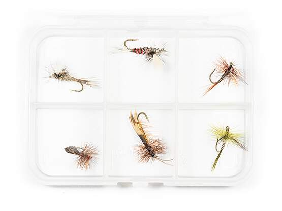 Dry fly selection MIX CLASSIC V8 - 6 flies with box