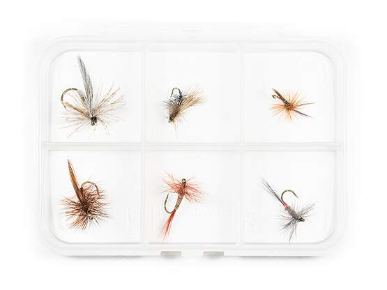 Dry fly selection MIX CLASSIC V9 - 6 flies with box
