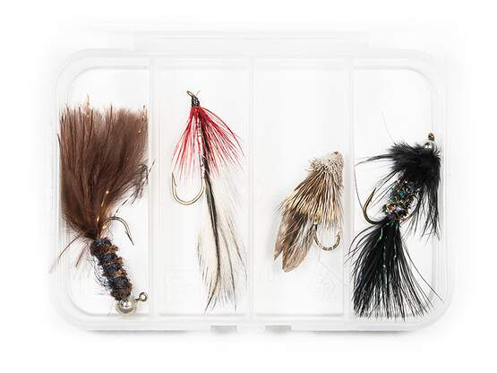 Selection STREAMERS CLASSIC V1 - 4 flies with box