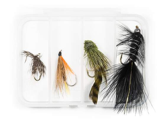 Selection STREAMERS CLASSIC V2 - 4 flies with box