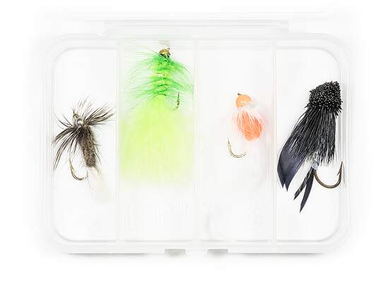 Selection STREAMERS CLASSIC V6 - 4 flies with box