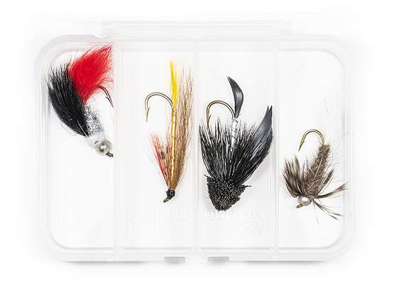 Selection STREAMERS CLASSIC V7 - 4 flies with box