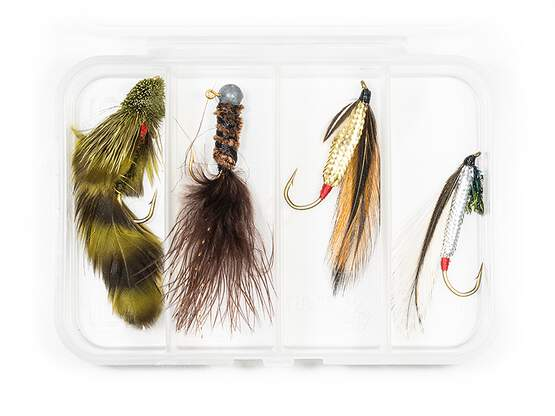 Selection STREAMERS CLASSIC V8 - 4 flies with box