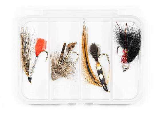 Selection STREAMERS CLASSIC V9 - 4 flies with box