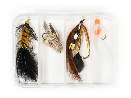 Selection STREAMERS CLASSIC V12 - 4 flies with box