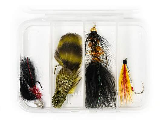 Selection STREAMERS CLASSIC V14 - 4 flies with box