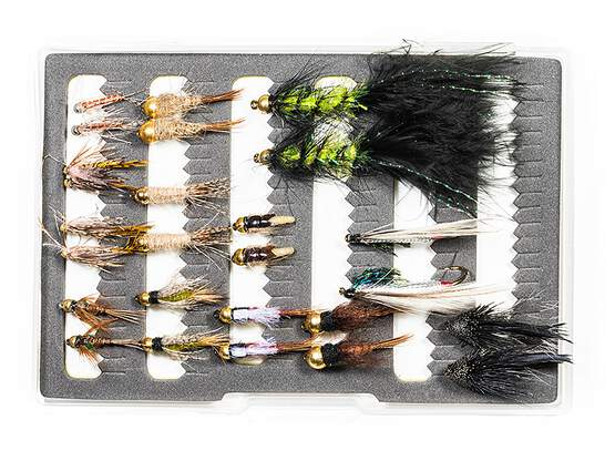 Selection STREAMERS NYMPHS CLASSIC - 26 flies with box