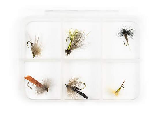 Dry fly selection MIX CDC V2 - 6 flies with box
