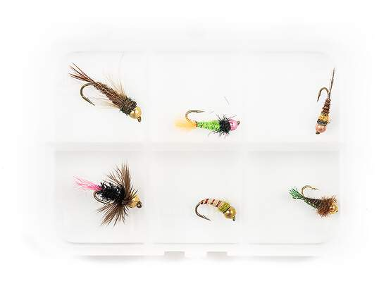 Selection TUNGSTEN NYMPHS V1 - 6 flies with box