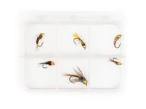 Selection TUNGSTEN NYMPHS V3 - 6 flies with box