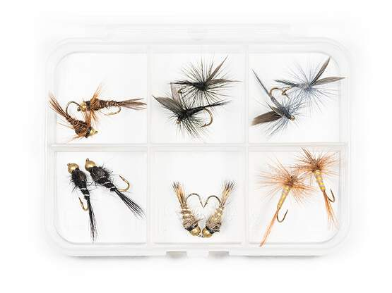 Flies selection TROUT ESSENTIAL - 12 flies with box