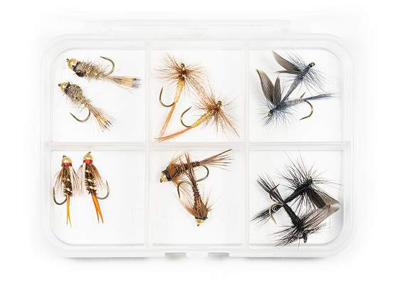 Flies selection TROUT ESSENTIAL BL - 12 barbless flies...