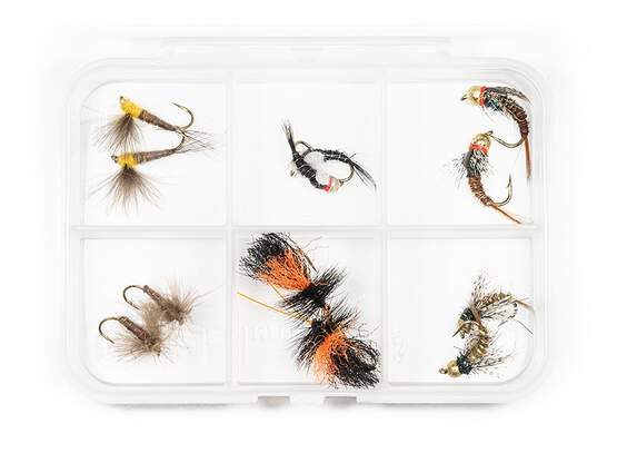 Flies selection hotfly TROUT ESSENTIAL - 12 flies with box