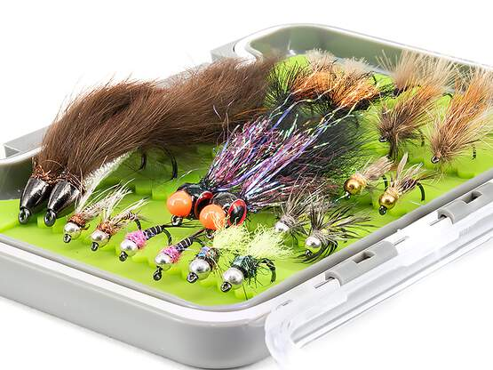 Flies selection hotfly TROUT STANDARD BL - 24 barbless...