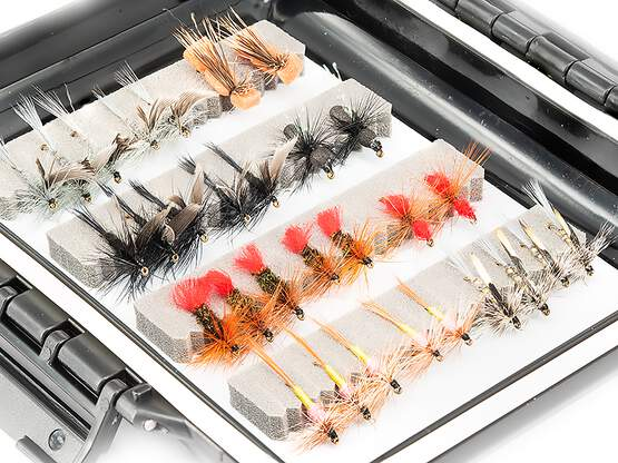 Flies selection GRAYLING UNIVERSAL - 48 flies with box