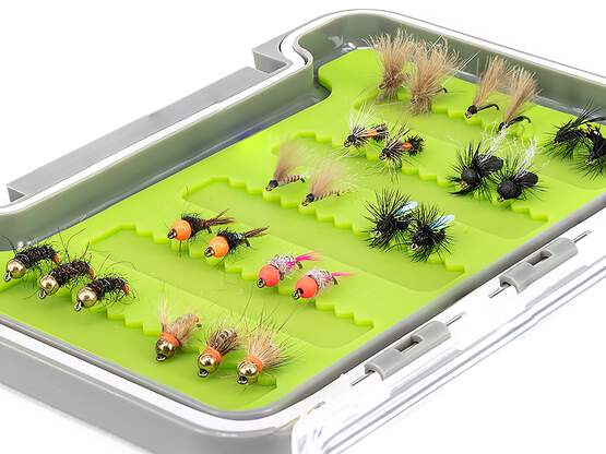 Flies selection hotfly GRAYLING STANDARD - 24 flies with box