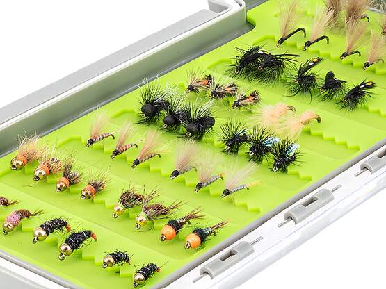 Flies selection hotfly GRAYLING UNIVERSAL - 48 flies with...