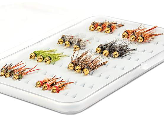 Selection BRASS BEAD HEAD NYMPHS EVERY DAY - 24 flies...