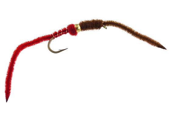 BH Two-Tone San Juan Worm - RedBrown