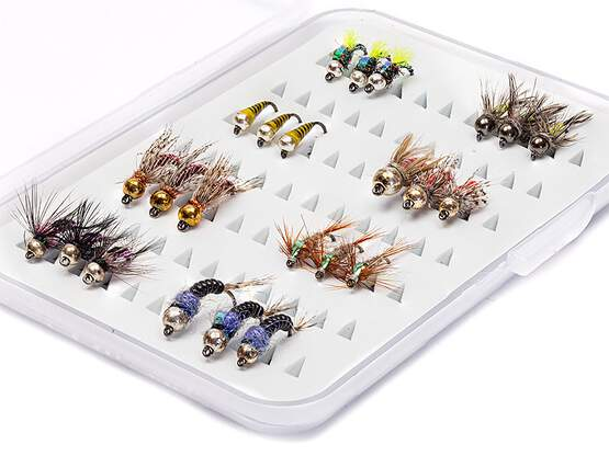 Selection TUNGSTEN NYMPHS EVERY DAY - 24 barbless flies...