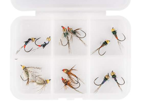 Flies selection hotfly TUNGSTEN NYMPHS LTD - 12 barbless...