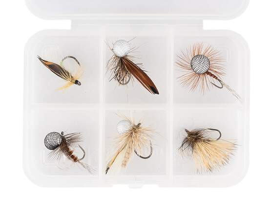Flies selection hotfly DRY ESSENTIAL V1 LTD - 6 barbless...