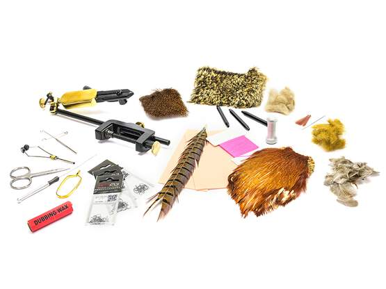 Fly tying kit DRY FLIES - BASIC - with vise SPRINGROTO